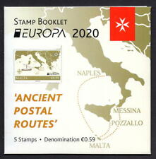 Malta 2020 €3.48 EUROPA 2020 - 'ANCIENT POSTAL ROUTES' Booklet - Mint