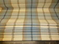 PORTER & STONE SKY BLUE TARTAN ROMAN BLACKOUT LINED BLIND MADE TO MEASURE 4/10.