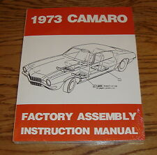 1973 Chevrolet Camaro Factory Assembly Instruction Manual 73 Chevy