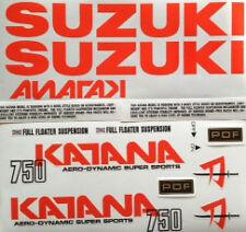 Suzuki GSX750S Katana 750 DECAL set