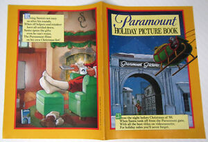 PARAMOUNT Holiday Picture Book__Original 1988 16pg Retailer VIDEO CATALOG