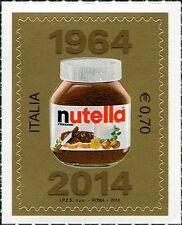2014 francobollo Nutella Ferrero 50° Anniversario dalla Realizzazione Italia