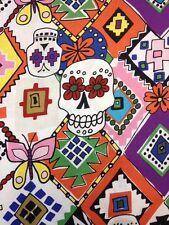AH25 Calaveras Dia De Los Muertos Sugar Skulls Cotton Fabric Quilt Fabric
