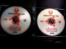 UBUNTU Linux 14.04.5 LTS 32&64-Bit LIVE/Install 2-DVD's/Sticker/Extras(UPDATED)