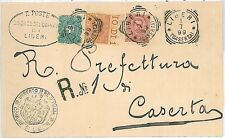 ITALIA REGNO: ANNULLO di LIBERI - TRICOLORE RACCOMANDATA! 1899