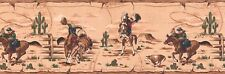 """RODEO HORSES-BORDER-9""""HIGH-PRE-PASTED--$9.00 A ROLL-FREE S&H"""