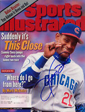 Sammy Sosa Chicago Cubs SIGNED Sports Illustrated COA!