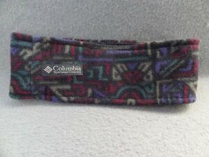 Columbia Sportswear Company One Size Fleece Headband Hair Wrap VTG Tribal Ear