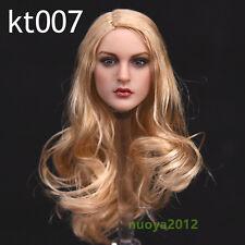 KIMI TOYS KT007 1/6 Long Hair Girl Head Sculpt For Female Phicen Body Figure Toy