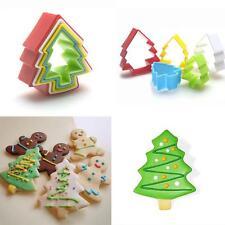 5Pcs/Set Christmas Tree Fondant Biscuit Cake Cookie Maker Mold Cutter DIY Tool B