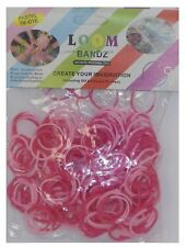Pastel Tie Dye 300 Loom Bands With 12 Clips - Fuscha/Pink