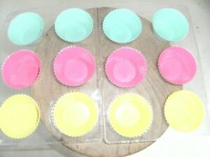 12 silicone cupcake cases, new and sealed