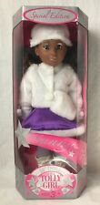 """Tolly Girl Doll Sunny African American w White Fur Coat Boots 18"""" TollyTots 2004"""