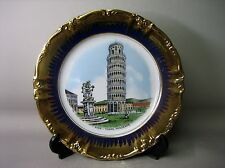 Large Pisa - Torre Pendente decorative plate and stand