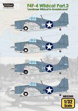 "WOLFPACK WD32005 Part.2 ""Landbase Wildcat in Guadalcanal"" for F4F-4 Wildcat 1:32"