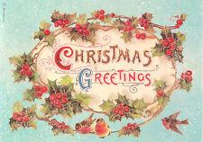 Rice Paper for Decoupage, Scrapbook Sheet, Craft Paper Christmas Garland