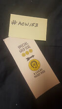 WATLING REPRO SPECIAL GOLD SEAL AWARD CARD FOR ANTIQUE SLOT MACHINE #ACW-153