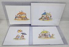 Tasha Tudor State Fair Ltd Ed Signed Numbered Prints Corgi Cottage 9x12 75/100