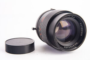 Vivitar Auto 100mm f/2.8 Prime Telephoto Lens with Rear Cap for Minolta MD V11