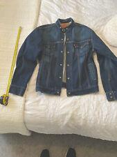 Levi's Denim Motorcycle Jacket Size Large *Rare