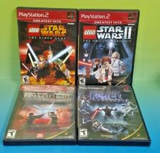 Star Wars Force Unleashed Lego I + II Episode III PS2 PlayStation 2 - 4 Game Lot