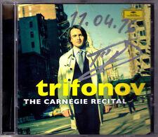 Sannikov Trifonov signée The Carnegie Recital Scriabin Liszt Chopin CD autograph