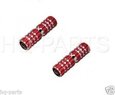 "BIKE BICYCLE ALUMINUM CHILDREN 3/8"" Axle Foot Pegs Red BMX"