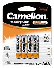 4 x Camelion AAA LR3 600 mAh 1.2V NiMH Rechargeable Batteries Advanced Formula