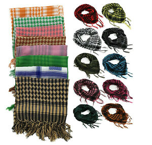 Men & Womens Tactical Shemagh KeffIyeh Arab Scarf Army Military Desert Veil Wrap