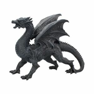 Nemesis Now  DRAGON WATCHER  Obsidian Dragon Ornament  Pagan Gothic Witch