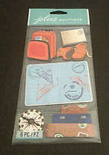SCRAPBOOKING STICKERS JOLEE'S  VOYAGE VALISES SAC A DOS PASSEPORT  3D
