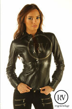 Fitted Genuine leather ladies shirt small medium large XL 6 8 10 12 14