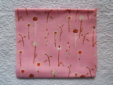 RARE OOP Heather Ross Lightning Bugs PINK DANDELIONS *VHTF New 2007 Fabric FQ*