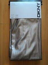 NEW DKNY Matte Gray CITY SLATE Faux Leather Window Curtain Panels 50x96 PAIR