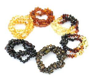 Baltic Amber Bracelet Anklet Wholesale Genuine 11 Colors Lot of 10