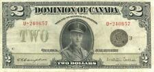 Canada $2 Dollars Dominion Currency Large Size Banknote 1923