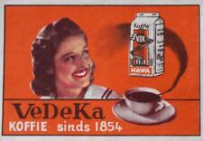 Old Print.  VEDEKA KOFFIE sinds 1854 -  matchbox cover art (Belgium)