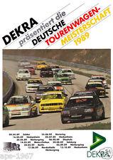 BMW E30 M3 BMW Motorsport DTM Dekra 1989 grandes cartel impresión