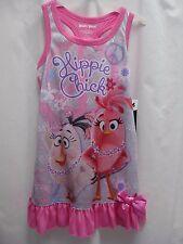 New ANGRY BIRDS Girls' poly sleeveless nightdress/gown, sz xs (4-5)