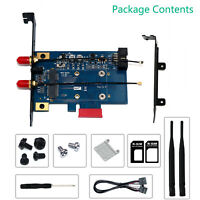 XT-XINTE PCI-E Wifi Bluetooth Adapter Mini PCI Express to PCIE X1 Network Card