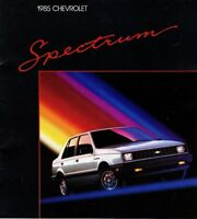 Big 1985 Chevy SPECTRUM Brochure/Catalog with Color Chart: Sedan, Coupe