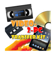 USB Video Capture for Windows 10, 8.1 & 7. Copy VHS & Hi8 Camcorder Tapes PC/DVD