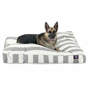 Majestic Pet Vertical Stripe Gray X-Large Rectangle Bed