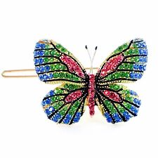 USA BUTTERFLY Hair Clip Hairpin use Swarovski Crystal Elegant Unique Green B-4