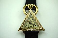 WALTHAM MASONIC WRISTWATCH GOLD PLATED TOP STEEL BACK C.1950'S BUY IT NOW!!