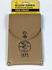 Klein Tools Professional Leather Tool Pouch- 5175- Made in Usa- F.Ship