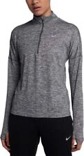 Nike Women's Dri-Fit Element Half Zip Long Sleeve Grey Running Top 904900-021(M)