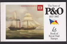 SPECIAL OFFER. GREAT BRITAIN 1987 P&O BOOKLET OPT. 'HAFNIA 87' SG DX8.