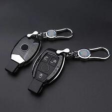 Carbon Fiber Black Key Cover for Mercedes Benz W203 W211 CLK C180 E200 AMG C E S