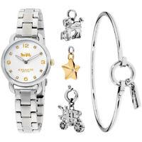 Coach Delancey Gift Set Quartz Movement Silver Dial Ladies Watch 14000055